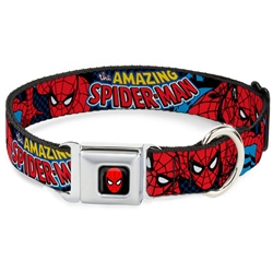 Amazing Spider-Man Seatbelt Buckle Dog Collar and Lead by Buckle-Down
