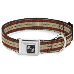 Americana Plaid Seatbelt Buckle Dog Collar and Lead by Buckle-Down