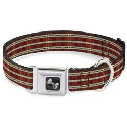 Americana Plaid2 Seatbelt Buckle Dog Collar and Lead by Buckle-Down