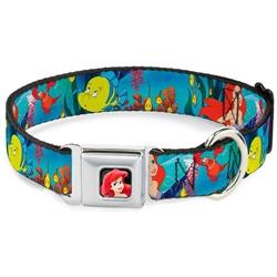 Ariel, Sebastian & Flounder Scene Seatbelt Buckle Dog Collar and Lead by Buckle-Down
