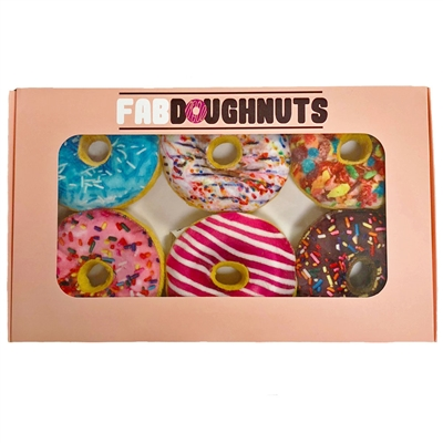 Box of 6 Doughnuts Plush Toy - Case of 3