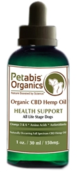 Petabis™ Organics 150 MG Organic CBD Hemp Oil, 1oz bottle