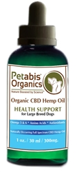 Petabis™ Organics 300 MG Organic CBD Hemp Oil, 1oz bottle