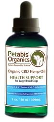Petabis™ Organics 300 MG Organic CBD Hemp Oil, 1oz bottle