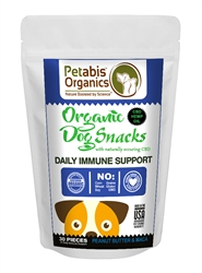 Petabis™ Organics Immune Support CBD Treats 1.5 mg. - PEANUT BUTTER & MACA 30 pieces