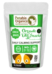 Petabis™ Organics Calming CBD LARGE BREED Treats 5 mg. - PB & PASSION FLOWER* 30 pieces