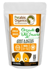 Petabis™ Organics Joint & Active Body Support CBD LARGE BREED Treats 5 mg. - PB & TURMERIC 30 pieces