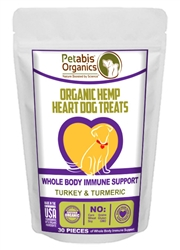 Petabis™ Organics Immune Support Hemp Hearts Treats - TURKEY & TURMERIC & CHIA - 30 pieces