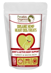 Petabis™ Organics Joint & Active Body Support Hemp Hearts Treats - TURKEY & SACHA INCHI & CHIA - 30 pieces