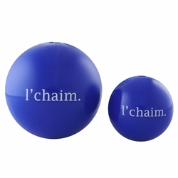 "2.5"" L'Chaim Orbee-Tuff® Holiday Ball - Royal"