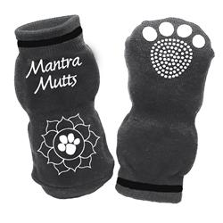 Mantra Muttsocks - Grey - Lotus Paw