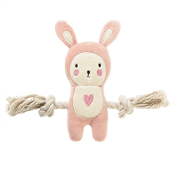 "Simply Fido -Basic 9"" Jill Pink Bunny Rope"