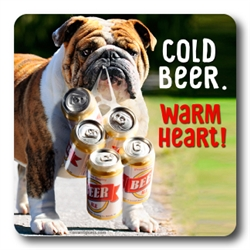 Cold Beer Warm Heart Coasters