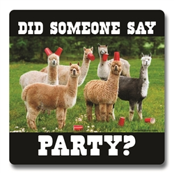 Alpaca Party Coasters