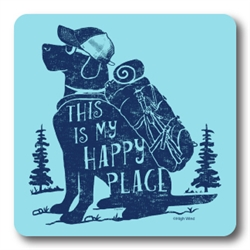 Happy Place Dog Coasters