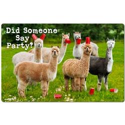 Llama Party Felt Mat