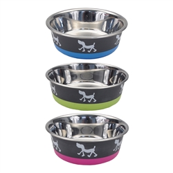 Maslow™ Design Series Non-Skid Pup Design Dog Bowls