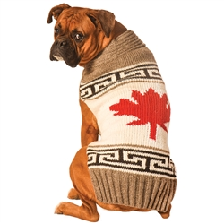 Grey Maple Leaf Sweater