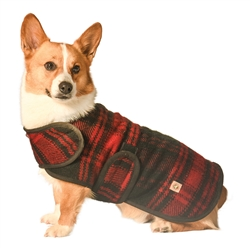 Red / Black Plaid Blanket Coat