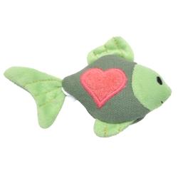 "4"" Fish - Turbo® Scent Locker Heart Plush Animal Cat Toys with Catnip Spray"