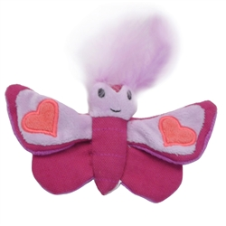 "5.5"" Butterfly - Turbo® Scent Locker Heart Plush Animal Cat Toys with Catnip Spray"