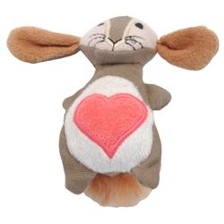 "4"" Bunny - Turbo® Scent Locker Heart Plush Animal Cat Toys with Catnip Spray"
