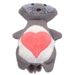 "4"" Raccoon - Turbo® Scent Locker Heart Plush Animal Cat Toys with Catnip Spray"