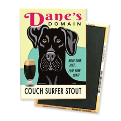 Great Dane - Dane's Domain - (Black Great Dane) 4-pack MAGNETS