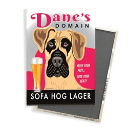 Great Dane - Dane's Domain - (Fawn Great Dane) 4-pack MAGNETS