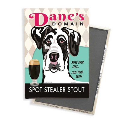 Great Dane - Dane's Domain - (Harlequin Great Dane) 4-pack MAGNETS