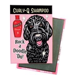 Labradoodle - Rock a Doodle 'Do! Black Doodle - 4-pack MAGNETS