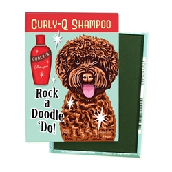 Labradoodle - Rock a Doodle 'Do! Chocolate Doodle - 4-pack MAGNETS