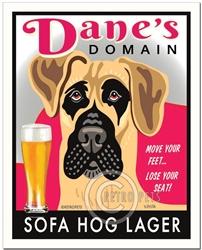Dane's Domain (Fawn Great Dane) Sofa Hog Lager Art Print