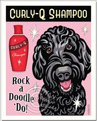 Rock a Doodle 'Do! - Black Labradoodle Art Print
