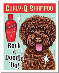 Rock a Doodle 'Do! - Chocolate Labradoodle Art Print