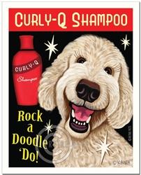 Rock a Doodle 'Do! - Cream Labradoodle Art Print