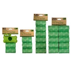 BULK 5- 5 Packs of Green Dog Waste Bags