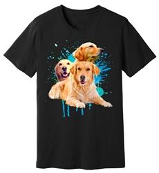 Viper - Golden Retriever - Splash - Shirt - Design 22