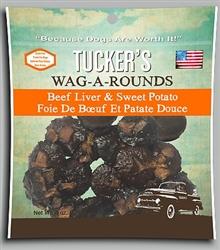 TUCKER'S DOG WAG-A-ROUNDS TREAT  6OZ