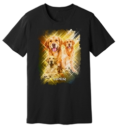 Viper - Golden Retriever - Starlight Series - Black Shirt - Design 32