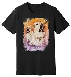 Viper - Yellow Labrador - Starlight Series - Black Shirt - Design 39