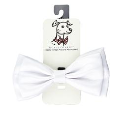 White Satin Bow Tie by Huxley & Kent