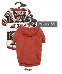 Zack & Zoey® Forest Friends Reversible Hoodie in Ginger (orange)