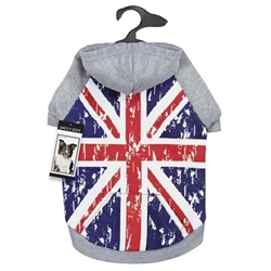 Zack & Zoey® Distressed Distressed British Flag Hoodie