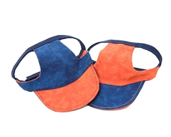 Blue/Orange Visor from Unikue Kreations
