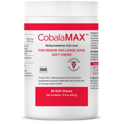 CobalaMAX for Medium & Large Dogs (60 count soft chews) B12 Supplement