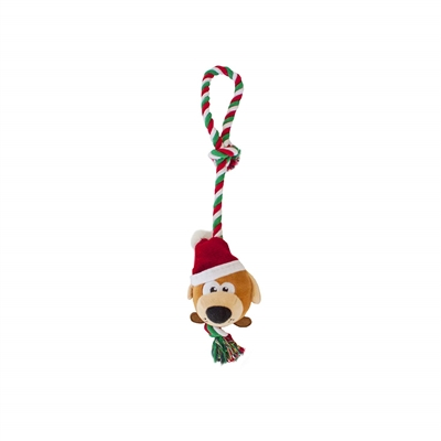 Outward Hound Christmas Puppy Tuggiez Holiday Tug-o-War Rope Dog Toy- While Supplies Last