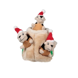 Outward Hound Holiday Hide-A-Squirrel Squeaking Dog Toys- While Supplies Last