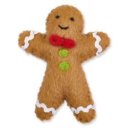 Gingerbread Man Holiday Cat Toy
