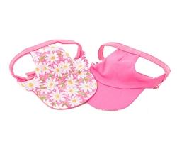 Pink Daisies Visor from Unikue Kreations